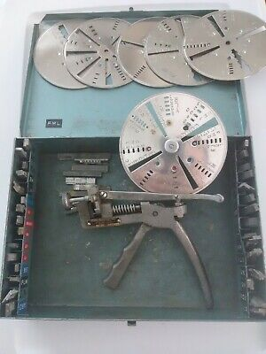 Vintage Curtis Key Cutter NO. 14 with Instruction / Code Book and 39 Carriages