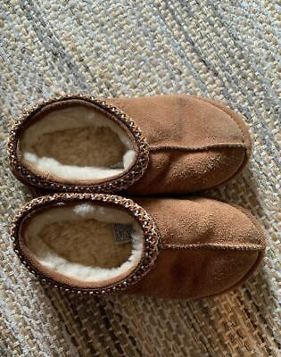 d985bb1ca72 NEW KIDS UGG Tasman Chestnut Warm Winter Slip On Suede Sheepskin ...