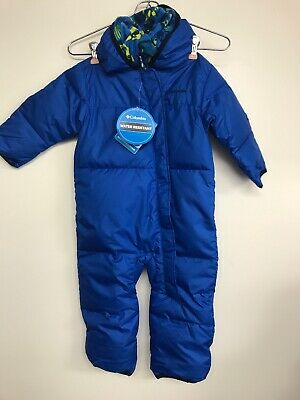 ec1e76a48 COLUMBIA BABY BOYS Blue Snuggly bunny bunting down Snowsuit 0 - 3 ...