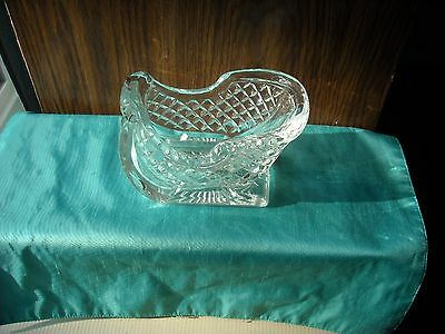 """Old Fashioned Sleigh Clear Glass 6"""" Long Holds Candy Trinkets, Decorations"""