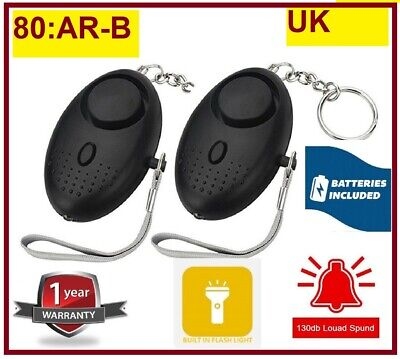 Police Approved Personal Panic Rape Attack Safety Security Alarm 140db
