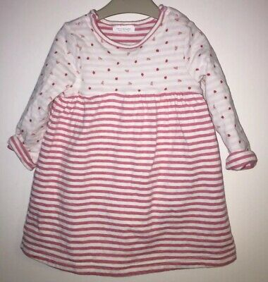 Girls Age 9-12 Months - Next Dress - Long Sleeved With Bodysuit Underneath