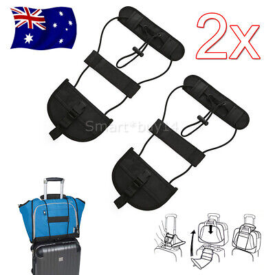 2X Travel Luggage Suitcase Adjustable Tape Belt Add A Bag Strap Carry On Bungee