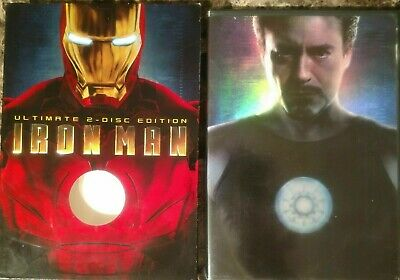 Iron Man (DVD,2-Disc Set, Ultimate Edition, w Slipcover) Marvel mint 6.99