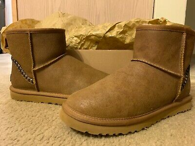 66279e63865 NEW UGG AUSTRALIA Men's Classic Mini Deco Winter Boots Size 10 ...