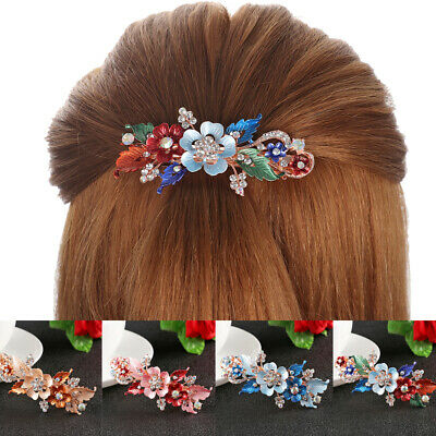 Women  Cute Hairpin  Headwear Accessories  Crystal Hair Clip Flower Barrettes