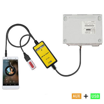 USB AUX-IN ADAPTER MP3 Player Radio Interface SD for Toyota