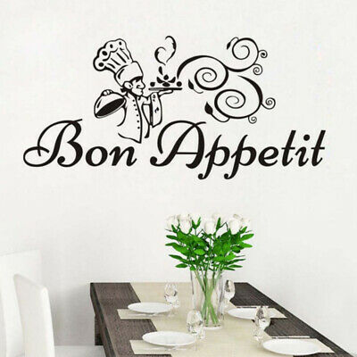 Dining Room Posters Bon Appetit Letters Decals Kitchen Mural Wall Stickers