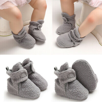 AU Baby Girl Boy Soft Sole Booties Fur Boots Infant Toddler Newborn Crib Shoes