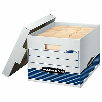 Bankers Box STOR/File Medium-Duty Storage Boxes, Quick Set-Up, Lift-Off Lid, ...