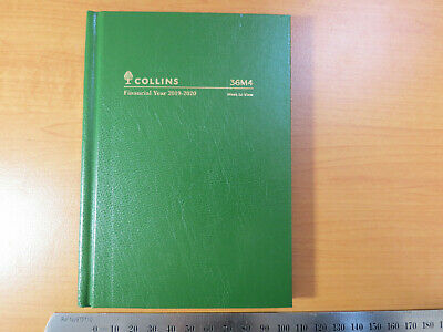 Diary FINANCIAL YEAR 2019/20 Collins 36M4 A6 Week To View Hardcover GREEN