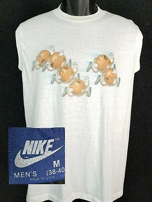7144dd54 Vintage NIKE T Shirt 1984 Los Angeles Olympic Marathon Oranges Blue Tag M  80s
