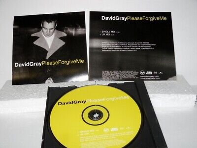 David Gray - Please Forgive Me -  Promo Only CD Single (RDJ-60398-2)