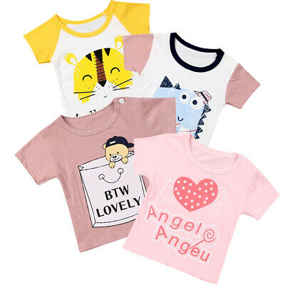 Infant Boy Girl Clothes T-shirt Child Toddler Cotton Short Sleeve Tops Animal