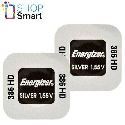 2 Energizer 386Hd 301 Sr1142Sw Batteries Silver 1.55V Watch Battery Exp 2023 New