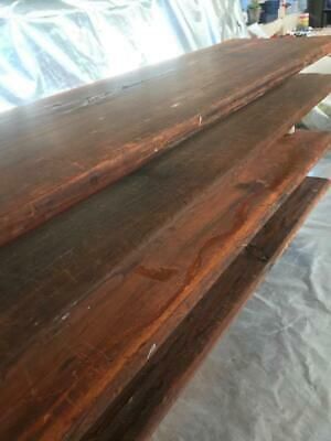 Quantities of Antique Pitch Pine Wares Boards -Ceramic Factory / rustic Shelving