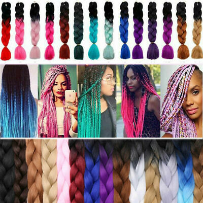 "US 24"" Ombre Xpression Jumbo Kanekalon Synthetic Braiding Hair Extensions 100g"