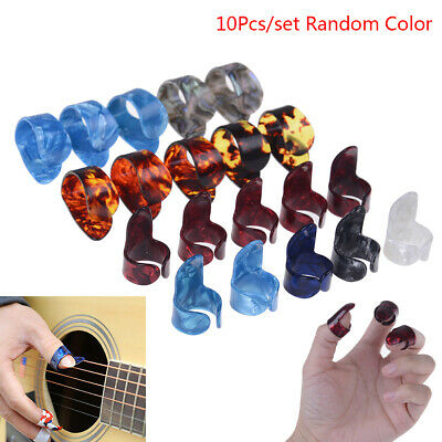 Guitar 10pcs Plectrum Nail Picking Thumb Finger Picks Stainless Steel cellulo IO