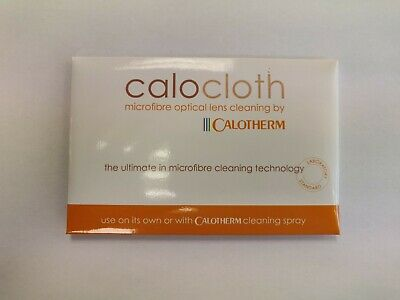 "Calocloth Microfibre Optical Lens Cleaning Cloth by Calotherm 8"" x 6"" RRP £4.99"