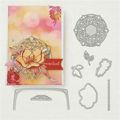 Flower Decor Metal Cutting Dies & Stamp Stencil for DIY Scrapbooking Photo Album
