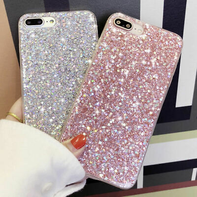 Bling Glitter Sequins Silicone Shockproof Case Cover For iPhone 8 Plus XR XS Max