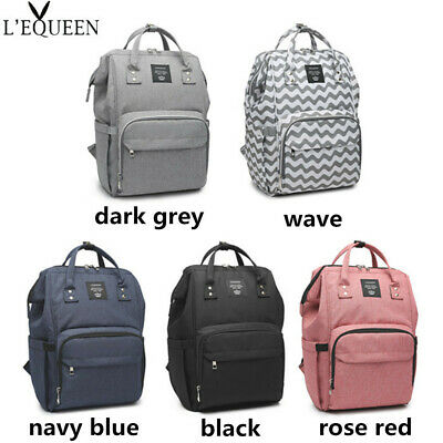 LEQUEEN Baby Diaper Bag Mummy Maternity Nappy Travel Backpack Waterproof Fashion