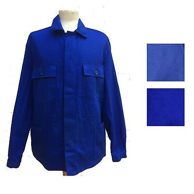 VINTAGE French Worker Work CHORE Jackets - Royal/Cobalt Blue - Sizes XS S M L XL