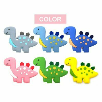 Dinosaur Teether Silicone Baby Teething Silicone Pendant Bpa Free Chewing Gum OK