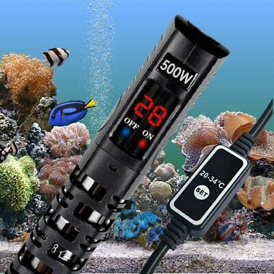 Aqua Fish Tank Thermosafe LED Digital Submersible Aquarium Water Heater 500W