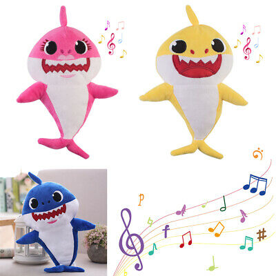 2019 Shine Singing Baby Shark Plush Toys Music Doll English Song Toy Kids Gift