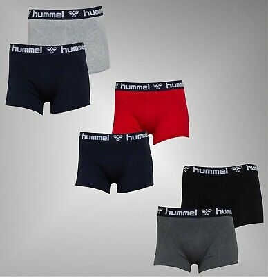 2 Pack Mens Hummel Branded Waistband Jersey Boxer Shorts Sizes from S to XXL