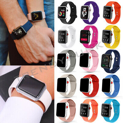 Apple Watch Silicone Sport Band Strap Replacement Series 4 3 2 1 38/40mm 42/44mm
