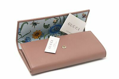 629bfe6d9f New Gucci Pink Wallet Card Purse Folding Floral Lining