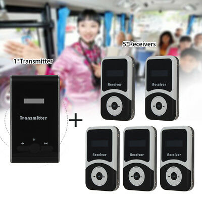 ATG100 Wireless System Transmitter 195MHz-230MHz 99 CH Tourism +5pcs Receivers