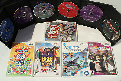 Lot of 11 Wii Games - My Sims, Boogie, Medieval Games, Tamagotchi Party On!