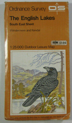 1979 Old OS Ordnance Survey Outdoor Leisure 1:25000 Map English Lakes South East