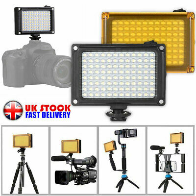 96LED Video Light Photo Camera Hot Shoe Dimmable LED Lamp For Camcorder DV DSLR