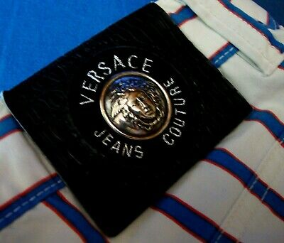 TROUSERS man vintage 90's VERSACE Jeans Couture made in Italy TG 31-45 circa M