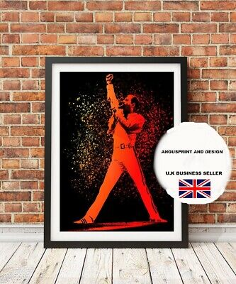 FREDDIE Freddy MERCURY QUEEN  Canvas Art  A4
