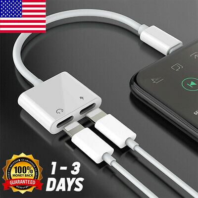 US For iPhone X Xs MAX 8 7 Plus Adapter Charge Cable (Headphone Adapter+Charger)