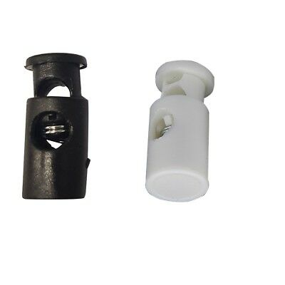 Drawstring Plastic Cord Stopper Locks with Single Hole Toggle Wide Push Buttons