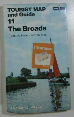 1984 Old Vintage OS Ordnance Survey One-Inch Tourist Map & Guide 11 The Broads