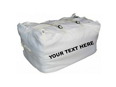 10 x PRINTED WHITE ULTRA STRONG LAUNDRY HAMPERS COMMERCIAL GRADE - SPECIAL OFFER