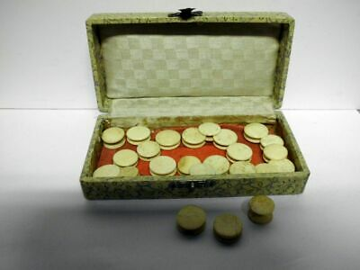 24 antike Nähgarnröllchen in Box-19th century-Box with 24 antique rolls for yarn