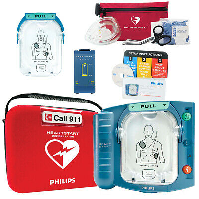 New in Box 2018 Philips Heartstart Home HS1 AED M5068A 2020 Pads 8 Year Warranty