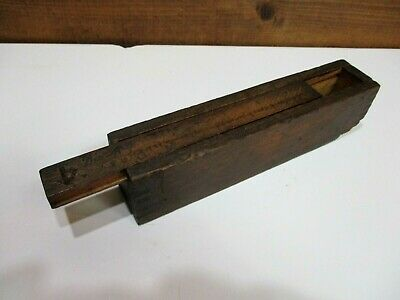 Vintage Miniature Wood Wooden Box Joint Corner~Slide Top Lid~Tiny Small~Antique?