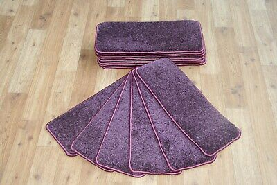 14 Carpet Stair Case Treads Central Purple Quality 14 Large Thick Pads