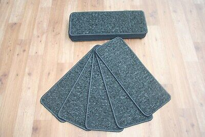 14 Carpet Stair Case Treads Connect Dot Black Quality 14 Large Pads