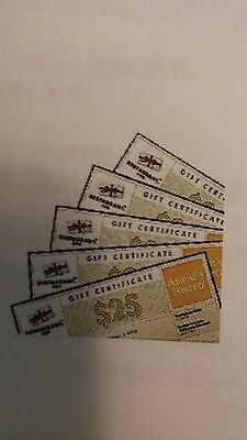 (5) $10 Restaurant.com (Nationwide)Gift Certificates (Free Shipping)See Details
