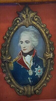 Antique Portrait in Frame Lord Admiral Horatio Nelson